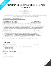 Entry Level Pharmaceutical Sales Resume Delectable Pharmaceutical Sales Rep Resume Sales Representative Resume Example