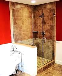 half wall shower glass showers creative bathroom decorations with walls amusing bathrooms thickness decorati