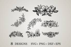 Free svg designs, chicago, illinois. Flower Border Graphic By Euphoria Design Creative Fabrica
