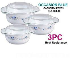 images gallery generic 3pcs opal glass ware casserole bowl set with lid food serving