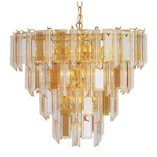 bel air lighting stewart 13 light bronze chandelier with beveled acrylic crystal shades