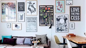 Decorating Room With Posters Quaint Danish Apartment Of Positive Poster Designers Interior