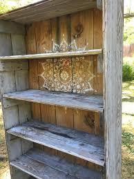 rustic diy furniture. A Rustic Bookcase Makeover Using The Radiance Mandala Stencil Diy Furniture