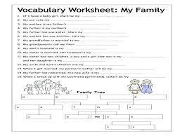 Writing Prompt My Family Kindergarten Esl Worksheets Relationships ...