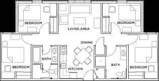 in this apartment you will have a private bedroom and share a bathroom with one of your roommates this apartment comes with a furnished kitchen and living