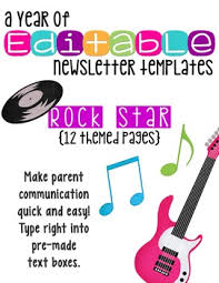Music Newsletter Templates Editable Newsletter Templates 12 Included Rock Star Theme By