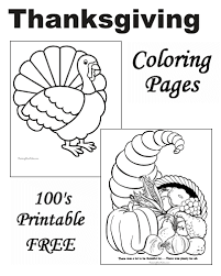 Small Picture Foods at Thanksgiving Coloring Pages