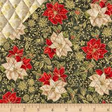 Celebrate the Season Double Sided Quilted Poinsettia Green ... & Celebrate the Season Double Sided Quilted Poinsettia Green - Discount  Designer Fabric - Fabric.com Adamdwight.com
