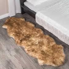 double eclipse sheepskin rug 2 pelt 2x6 ft