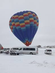 Hot air balloons  It will takeoff soon