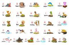 Animal Abc Chart Alphabet Animal Chart Stock Illustrations 64 Alphabet