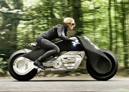 bmw peeps into future of electric motorbike with motorrad concept link