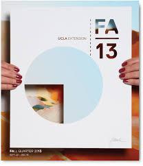 Ucla Extension Catalog Cover Fall Quarter Vrontikis Design Office