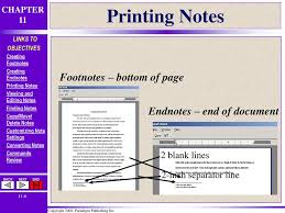 Creating Footnotes And Endnotes Ppt Download