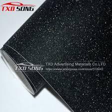 black frost glitter diamond vinyl matt glitter car sticker with bubble free free size