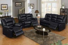 black leather reclining sofa. Modern Black Leather Reclining Sofa Loveseat Motion Couch Living Room L