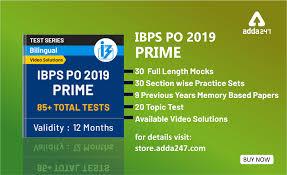ibps po prime 2019 test series