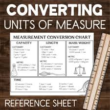 Standard Weight Conversion Chart Measurement Conversion Chart Reference Sheet