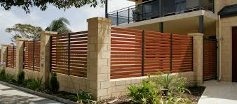 low horizontal wood fence. Aluminium-fencing-slat Low Horizontal Wood Fence