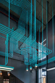 Designer Electrical Conduit Turquoise Electrical Conduit Is A Design Feature Running