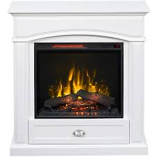 style selections 36 5 in w 5 200 btu white wood infrared quartz electric fireplace with thermostat and remote control