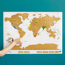 scratch map  scratch off world world poster  uncommongoods