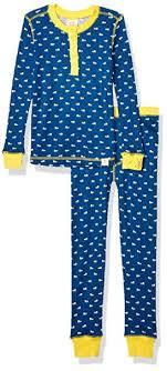 Amazon Com Munki Munki Kids Snug Fit Pajama Set Clothing