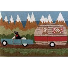 camping dog indoor outdoor rug