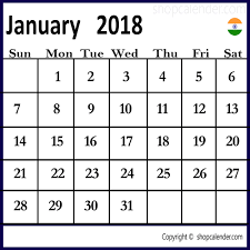 january 2018 calendar free january 2018 india calendar download blank free calendar templates