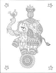Small Picture Instant Download Cute Circus Elephant Coloring Page Be the Artist