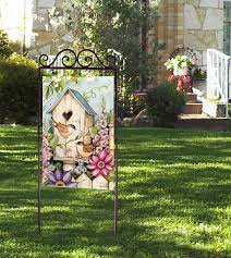 to display your decorative garden flags