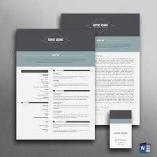 Modern Resume Template Cv Templates Creative Curriculum Vitae Free