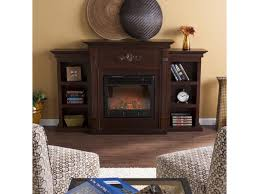southern enterprises fe8545 tennyson electric fireplace w bookcases classic espresso