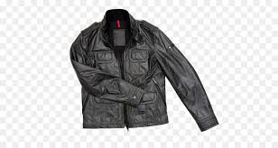 leather jacket jacket clothing textile sleeve png