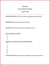 weekly syllabus template ate central curriculum syllabus template