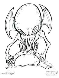 Monster Coloring Pages Monsters Coloring Pages Creepy Coloring Pages