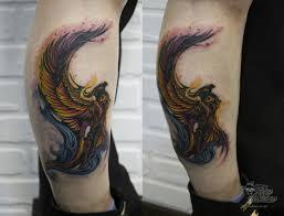 тату птицы на ноге татуировка на ноге тату птиц