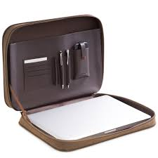 computer accessories carrying case brown ultra suede leather t p events