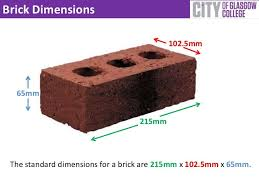 brick size brick dimensions 102 5mm 65mm 215mm the standard dimensions for 1