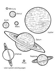 Solar System Coloring Sheets Uticureinfo