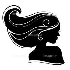 横顔 女の子 黒髪 髪 芸術 ファッション モダン アンティークの画像