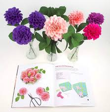 Dahlia Flower Making With Paper Paper Dahlia Templates And Tutorial Crepe Paper Flowers