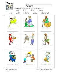 Kids Spelling Action Words Worksheets With Picture On The App Store ...