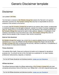 Sample Disclaimer Template Termsfeed