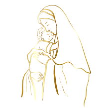Download baby jesus stock vectors. Gold Virgin Mary And Baby Jesus No Background Free Svg