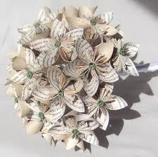 Paper Origami Flower Bouquet Origami Flower Wedding Bouquet Custom Paper Flower Bridal Bouquet