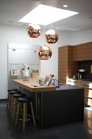 black and copper kitchen ideas modern extravagant and bold designs copper round pendant