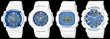 Casio Analog Watch With Light G Shock White And Blue Summer Sky Series G Central G