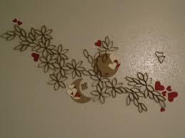toilet paper roll art wall decor