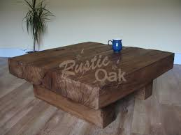 beam square coffee table  rustic oak